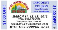York RV Show Coupon